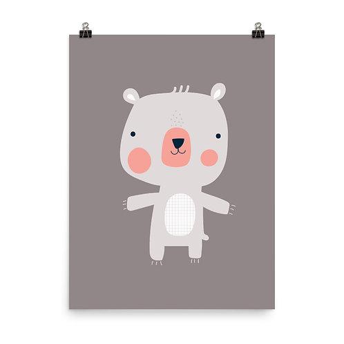 Bear Hug Children's Nursery Print