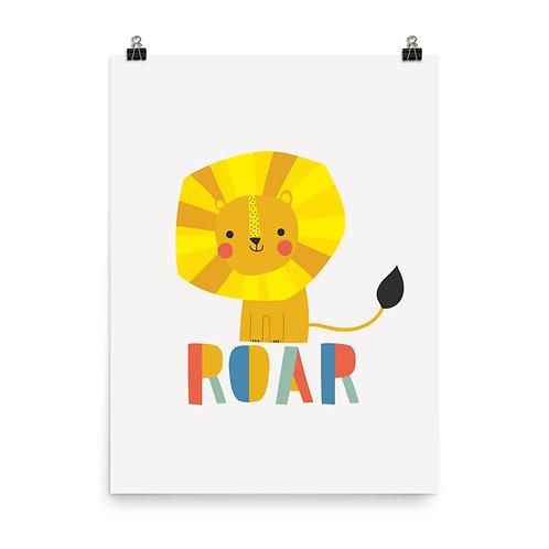 Roaring Lion Children's Nursery Print