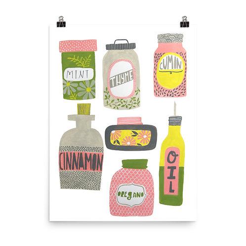 Kitchen Spices Art Print