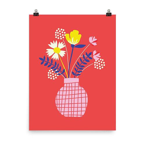 Vase Of Flowers Print
