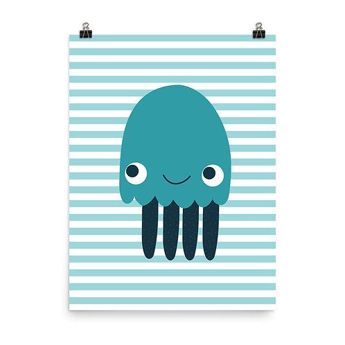 Jellyfish Nursery Print - Under the Sea Theme