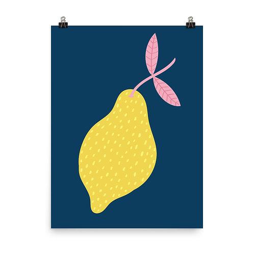 Lemon Fruit Art Print