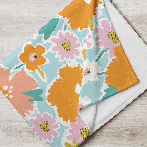 Fiesta Flowers Throw Blanket