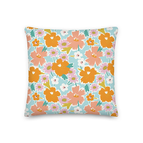 Printed Pillow - Floral Printed Cushion - Cushions and Pillows for Girl - Gift F