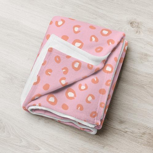 Pink Leopard Print Throw Blanket