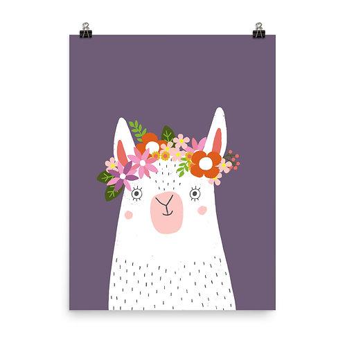 Children's Print - Llama