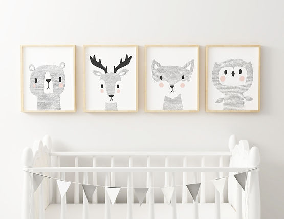 Woodland-Animlas_Set-Of-Four-Prints_Alic
