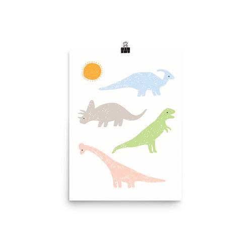 Dinosaur Nursery Print - Dino Theme Wall Art