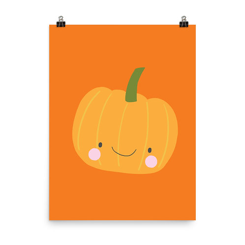 Pumpkin Print, Halloween Art, Cute Pumpkin