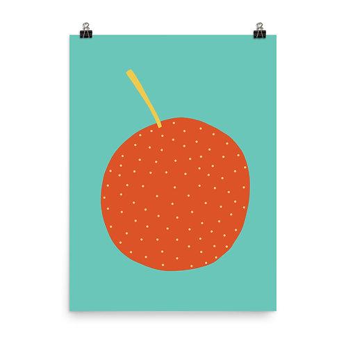 Orange Fruit Print