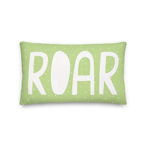 Roar Green Polka Dot Pillow
