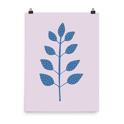 Spotty Tropical Leaf Botanical Print