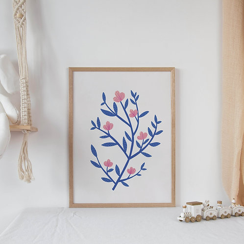 Flower Print | Botanical Art | Nursery Decor | Floral Wall Print | Plants and Fl