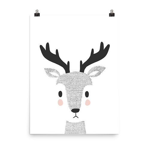 Woodland Deer Children's Nursery Print