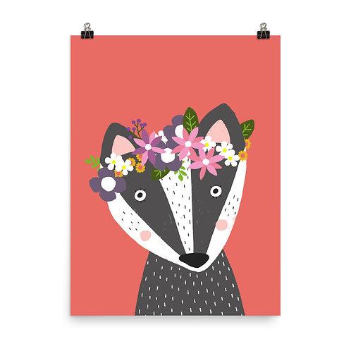 Children's Print - Badger