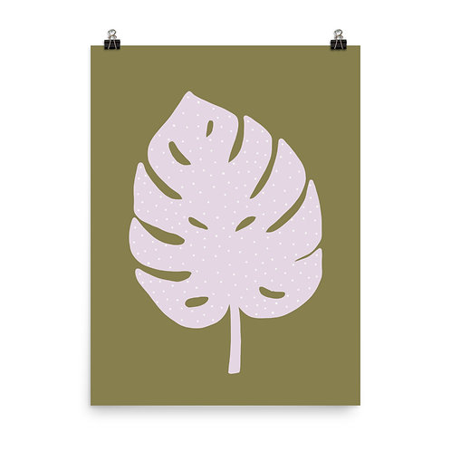 Monstera Leaf Botanical Print