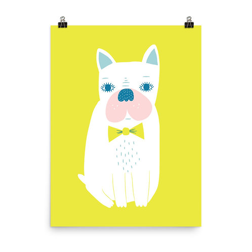 Cute Dog Nursery Art Print