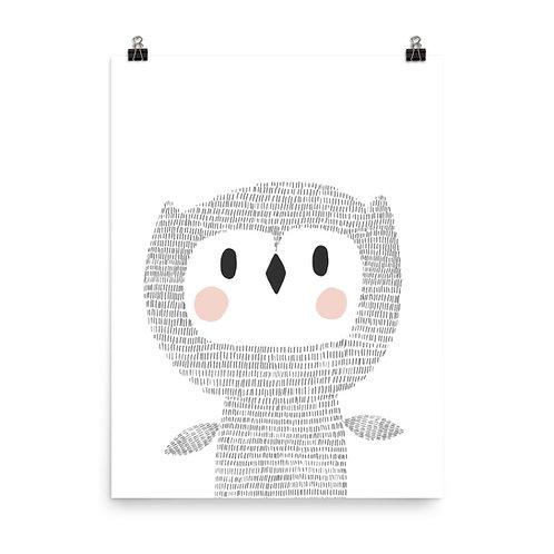 Woodland Owl Children's Nursery Print