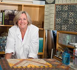 Kathleen Cosgrove in her studio
