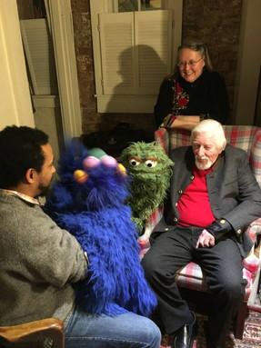 me with Oscar the grouch,Carroll & Deb Spinney
