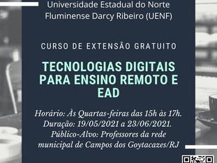 Tecnologias digitais para ensino remoto e EaD
