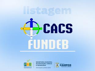 CACS-FUNDEB | Lista de inscritos por segmento para processo seletivo