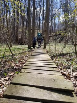 camping and hiking