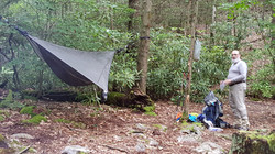 Privy at Hurricane Mountain Shelter on the AT>