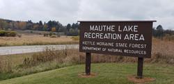 Mauthe Lake Sign.