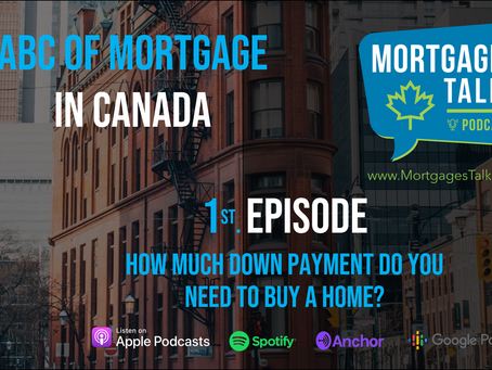 1st Episode. How much down payment do you need to buy a house?