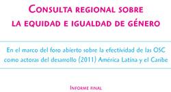Consulta regional equidad e igualdad