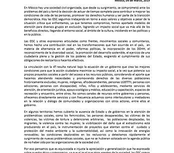 Resumen CARTA OSC A AMLO 4 marzo Adhesio