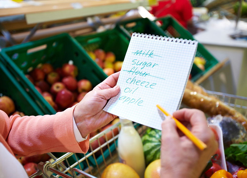 top tip for reducing food waste: plan your shopping list