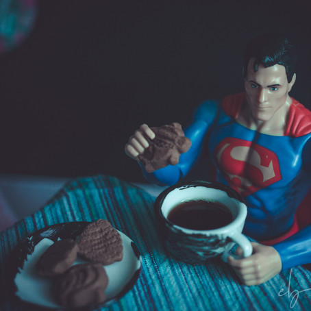 Reportage of a superhero's day during lockdown