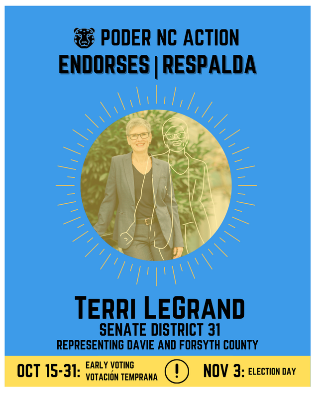 Terri LeGrand | Senate District 31 | North Carolina | Representing Davie and Forsyth County