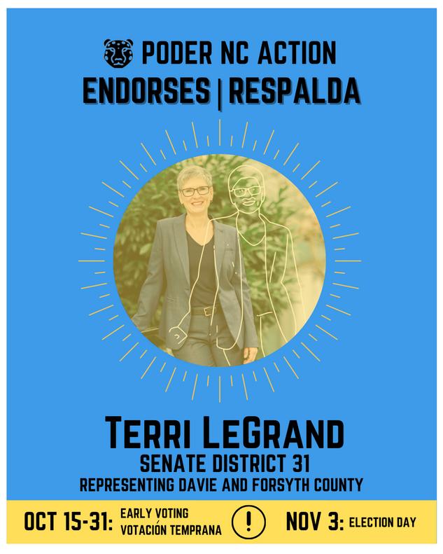 Terri LeGrand | Senate District 31 | North Carolina | Representing Davie and Forsyth County