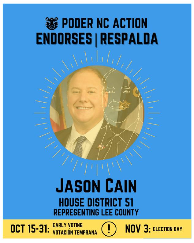 Jason Cain | House District 51 | North Carolina | Representing Lee County
