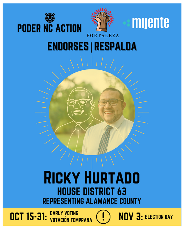 Ricky Hurtado | House District 63 | North Carolina | Representing Alamance County