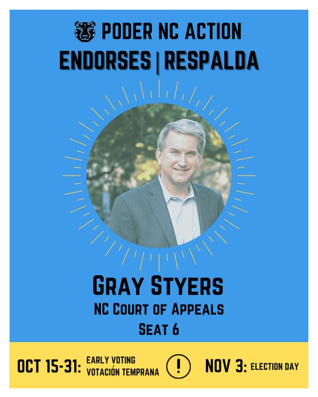 Gray Styers | North Carolina Court of Appeals | Seat 6