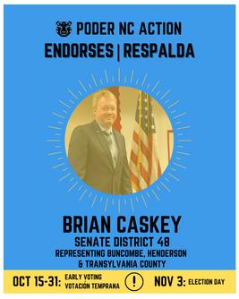 Brian Caskey | Senate District 48 | North Carolina | Representing Buncombe, Henderson & Transylvania County