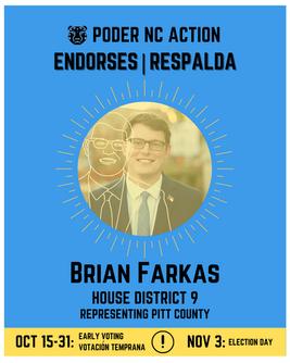 Brian Farkas | House District 9 | North Carolina | Representing Pitt County