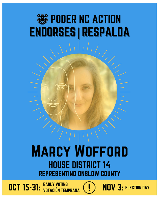 Marcy Wofford | House District 14 | North Carolina | Representing Onslow County
