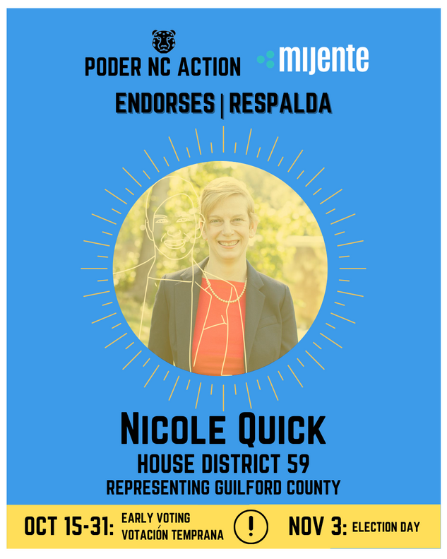 Nicole Quick | House District 59 | North Carolina | Representing Guilford County