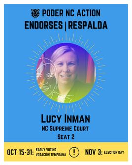 Lucy Inman | North Carolina Supreme Court | Seat 2
