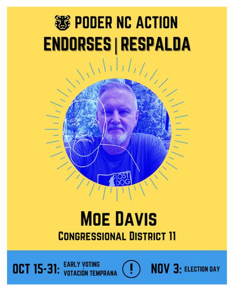 Moe Davis | Congressional District 11 | North Carolina
