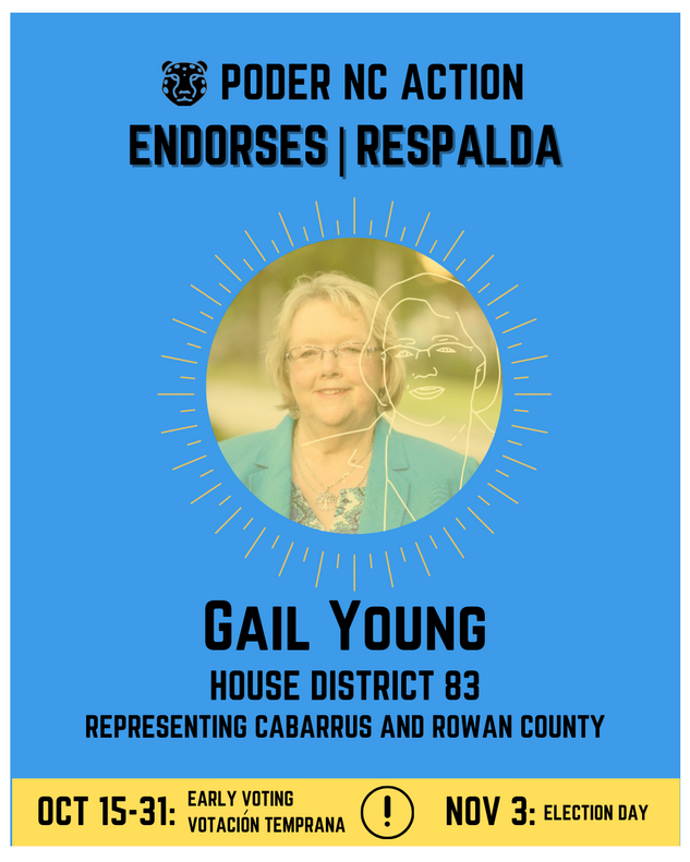 Gail Young | House District 83 | North Carolina | Representing Cabarrus and Rowan County