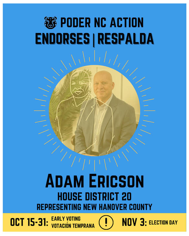 Adam Ericson | House District 20 | North Carolina | Representing New Hanover County