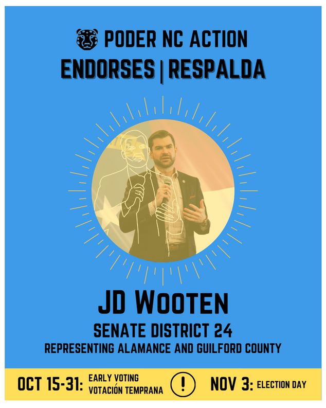 JD Wooten | Senate District 24 | North Carolina | Representing Alamance and Guilford County