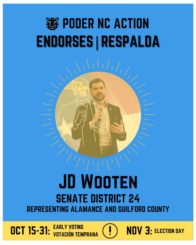 JD Wooten | Senate District 24 | North Carolina | Representing Alamance and Guilford County