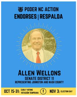 Allen Wellons | Senate District 11 | North Carolina | Representing Johnston and Nash County